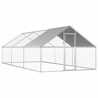 vidaXL cage à poulets de plein air 2,75x6x1,92 m Acier galvaniqué