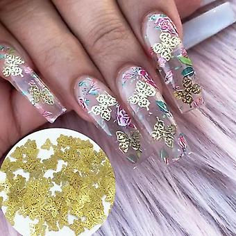 Nail Art Gold Nail Sequins Flakes Acrylic Designs Manicure Decoration