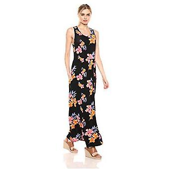 28 Palms Women's Sleeveless Maxi Dress, Black, X-Large