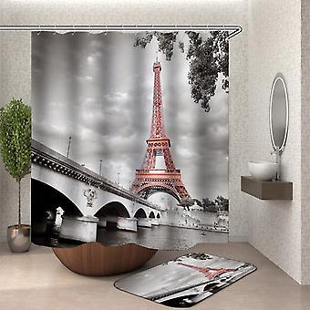 Rideau artistique de douche d'image de tour Eiffel