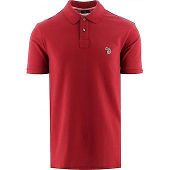 Paul Smith Burgundy Short Sleeve Polo Shirt
