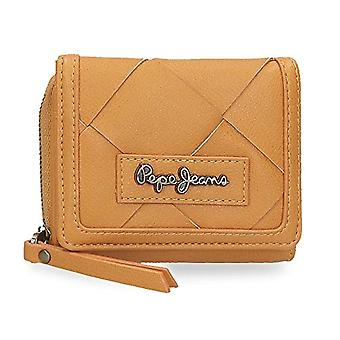 Pepe Jeans Cutouts - Wallet with coin purse, 10 x 8 x 3 cm, Yellow (Ochre)