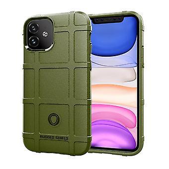 Étui en fibre de carbone Tpu pour iphone 11pro vert mfkj-1848