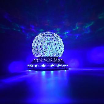 Mini pyörivä värikäs led-lavavalo