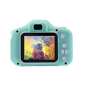 Tavallinen vihreä kannettava lasten videokamera x2 mini 2,0 tuuman hd 1080p ips värinäyttö lasten digitaalikamera az20923