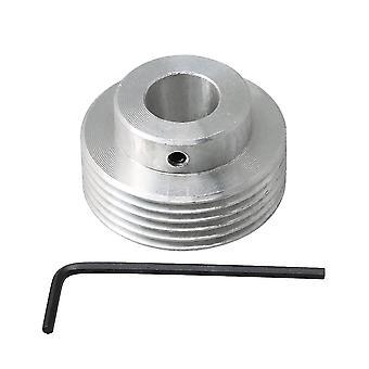 Pour 40mm Diamètre extérieur Aluminium 6 Dents 14mm Alésage Courroie Roue de Poulie WS763