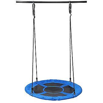 Blue  round swing toy outdoor courtyard garden for kids homi3730