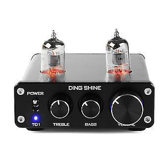 DING SHINE HiFi Digital 6J1 Vacuum Tube Treble Bass Mini Stereo Audio DAC Pre Amplifier