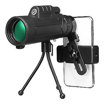 12x50 Exterior Monocular HD Óptico Día Noche Visión Teléfono Telescopio Camping Viajes