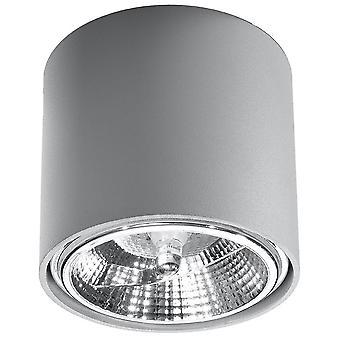Sollux TIUBE SL.0696 Opbouw Downlights Round Flush Lichtgrijs GU10