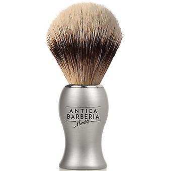 Antica Barberia Super Badger barbering børste sølv Metal