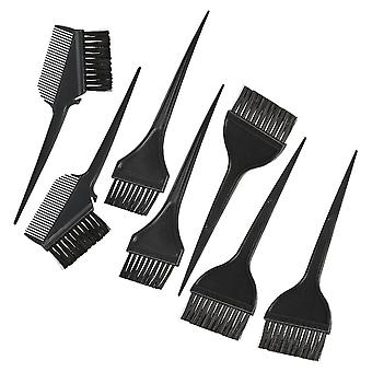 7pcs Hair Coloring Comb Kit Hair Dyeing Brushes Set Double-sided Hair Tint Tool Black