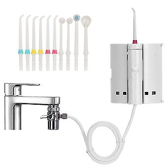 10 Tips Faucet Oral Irrigator Portable Water Dental Irrigator For Teeth Cleaning Oral Irrigators