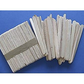 50 Natural Wooden 11.5cm Craft Lolly Sticks for Crafts