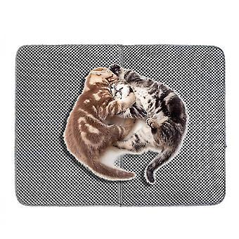 High Elastic Eva Waterproof Cat Litter Treatment Mat For Pets(Grey)