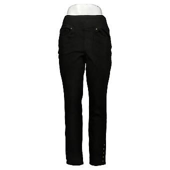 Belle af Kim Gravel Kvinders Jeans Flexibelle Side Snap Jeggings Black A372723
