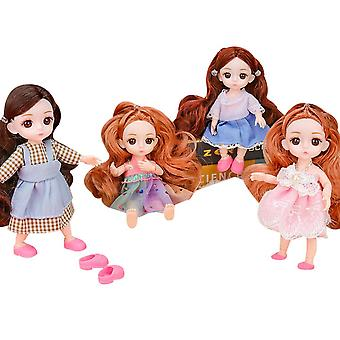 4 Pack Little Princess Baby Doll 16cm Simulation Doll Gift Box