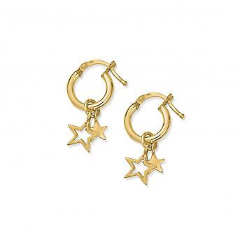 ChloBo Gold Double Star Hoops GEH1128