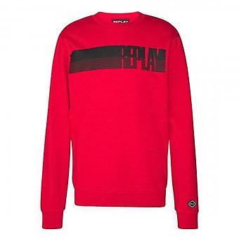 إعادة شعار طاقم الرقبة قميص أحمر M3509