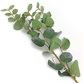 80cm kunstig stoff frostet effekt eukalyptus blomsterdekoratør håndverk stamme