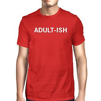 طباعة الرسم مضحكة القميص الأحمر رجل أدولتيش المحملة الأكمام قصيرة
