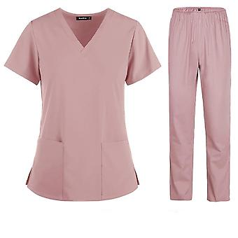 Nurse Women Fabric Short Sleeve Medical Uniforms