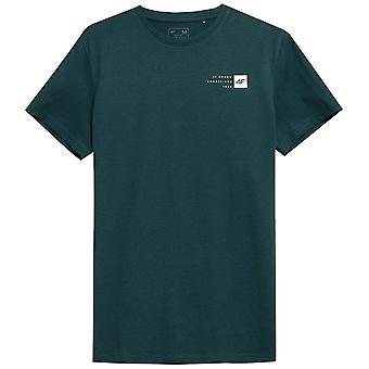 4F TSM011 H4Z21TSM011MORSKAZIELE אוניברסלי כל השנה גברים חולצת טריקו
