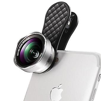 Power adapter charger accessories lq-046 2 in 1 phone camera lens kit wide angle lens and 15x macro lens for smartphone sliver color