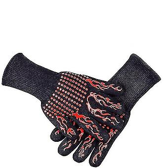 Safety gloves a pair of fireproof kevlar gloves for barbecues and oven operation hhdj--apair