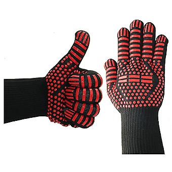 Safety gloves a pair of fireproof kevlar gloves for barbecues and oven operation hsdh--apair