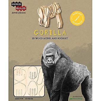 IncrediBuilds Animal Collection Gorilla 3D Wood Model