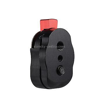 Mini Schnellwechselplatte für LCD Monitor Magic Arm LED Licht Kamera Camcorder Rig(Schwarz)