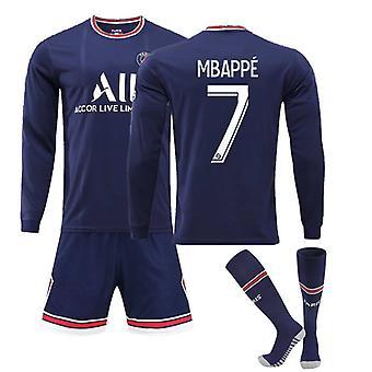 Mbappe Psg Jersey, Paris Team Long Sleeve-mbappe - 7 Paris Team