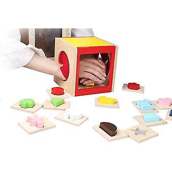 Venalisa Puzzle Toys Enfants Développement Sensoriel Tactile Forme Jeu d'Appariement Montessori Education