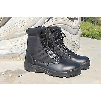 Black Tactical Military Boots High Top Boots Adult Hiking Boots 44# Within 266-270mmof The Foot Length