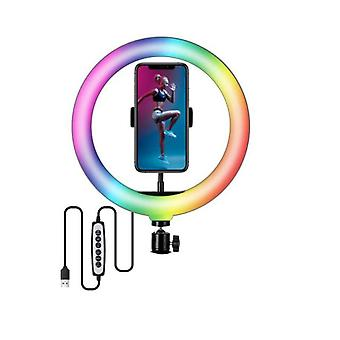Selfie Video Lights Dimmable Light Led Ring Light Usb Ring Lamp With Tripod Stand Rim Of Light To Make Tiktok Youtube Ringlight