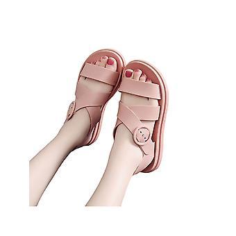 Damer Åpne Tå Sandaler Runde Tå Klassiske Sandaler Crossover Design Utendørs