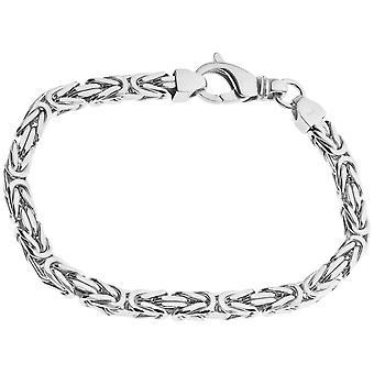 Sterling 925 Silver King bracelet - DOTTE 6x6mm