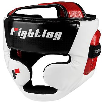 Fighting Sports Tri-Tech Fascinate Full Training Headgear - Black/White/Red
