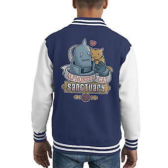 Alphonses Cat Sanctuary Full Metal Alchemist Kid's Varsity Jacket