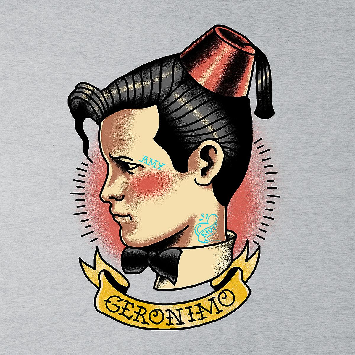 11 Doctor Who tatuaje Geronimo Varsity chaqueta de los hombres