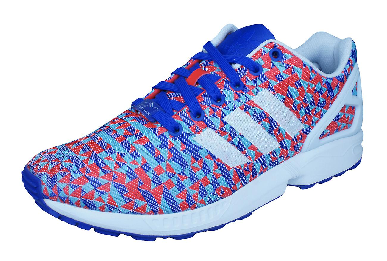 new styles 52140 d9263 adidas Original ZX Flux Weave Mens Trainers / Shoes - Red and Blue