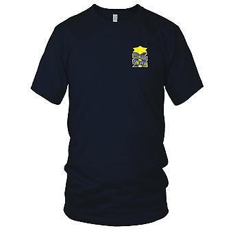 US Armee - 53. Infanterie-Regiment gestickt Patch - Mut Sanspeur Herren T Shirt