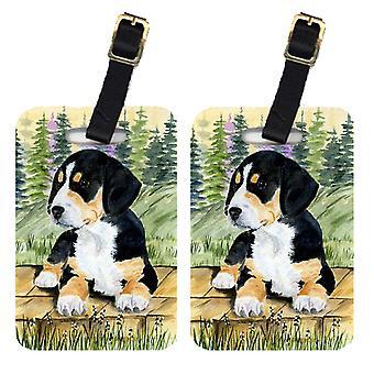 Carolines Schätze SS8132BT paar 2 Entlebucher Mountain Dog-Kofferanhänger
