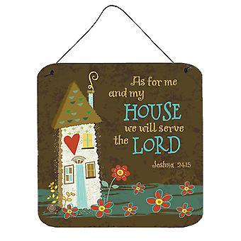 Per quanto riguarda Me e la mia casa parete o porta appeso stampe