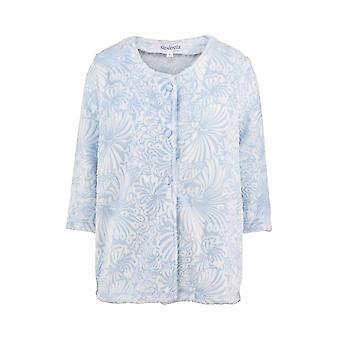Slenderella BJ7305 Women's Mavi Çiçekli Bornoz Yatak Ceketi