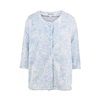 Slenderella BJ7305 Women's Blue Floral Robe Bedjacket