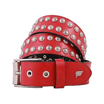 Lowlife Sphere Leather Belt in Red