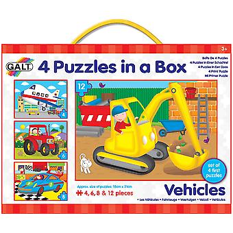 Galt 4 Puzzles In A Box Vehicles