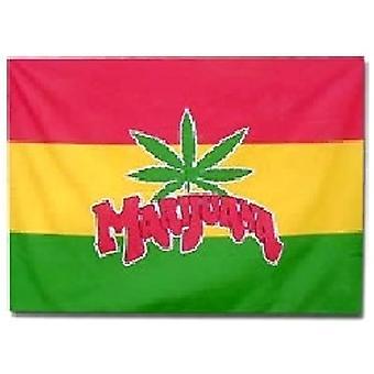 Marihuana vlag 5 ft x 3 ft met oogjes voor verkeerd-om